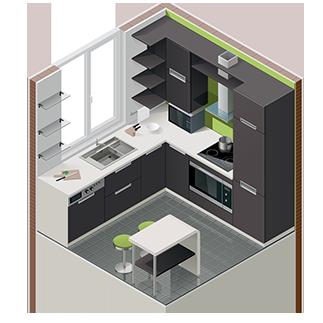 modular kitchen showroom in trivandrum